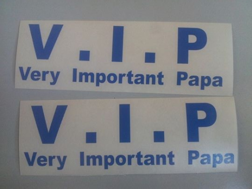 Sticker VIP Very Important Papa