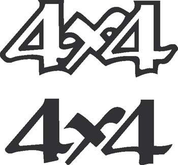 Sticker 4x4 - 020 - dim : 200 x 185 mm