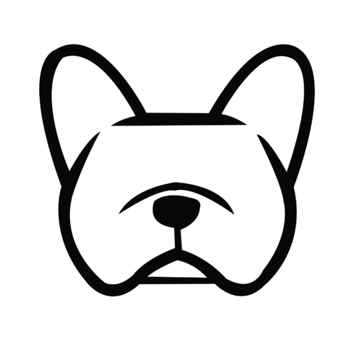 Sticker bouledogue français - Dim 3 x 2.7cm