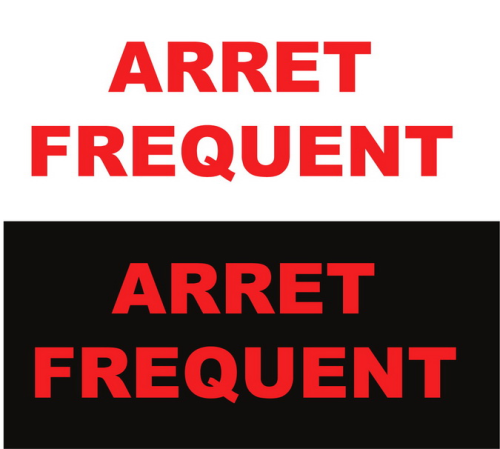 Lot de 05 Sticker Voiture Arret Frequent 30 x 10cm