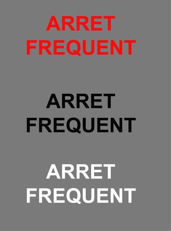 Lot de 20 Stickers Voiture Arret Frequent 30 x 10cm
