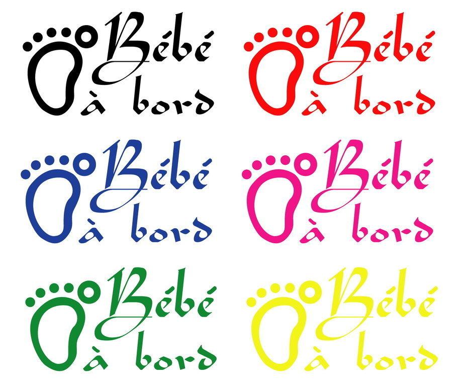 Sticker Bébé à bord 02 - Dim 20 x 12 cm - Blanc