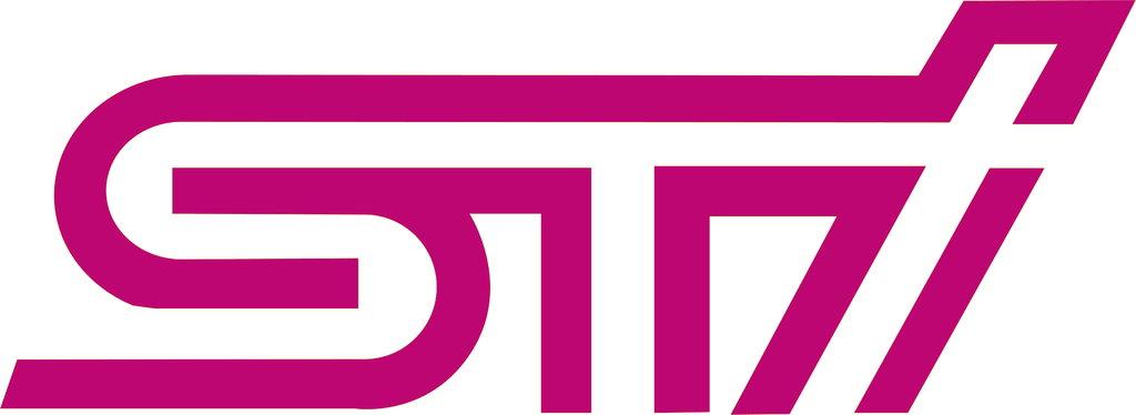 Sticker logo STI subaru Taille S - Dim: 11 x 3.7cm
