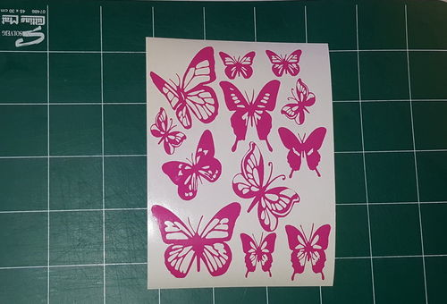 Sticker Papillon 12p - Dim 16,5x22,5cm