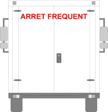 Sticker Voiture Arret Frequent 100 x 08cm