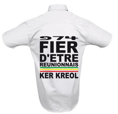 Chemise Fier d'etre Réunionnais