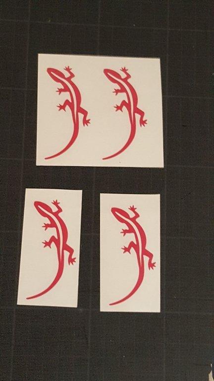 Sticker Margouillat simple - Taille 4.0 x 7cm