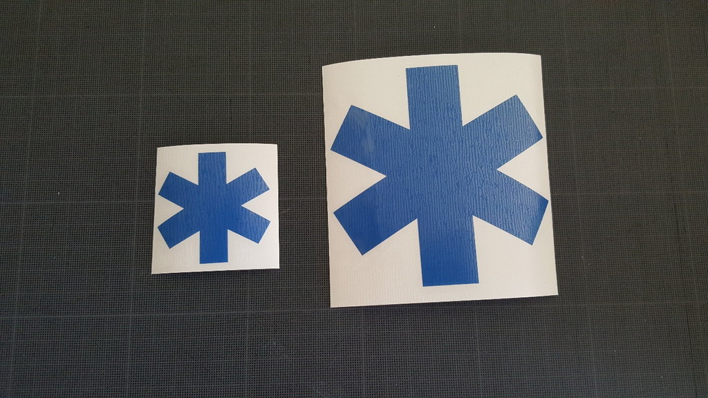 Sticker Ambulance modéle 05 Taille M
