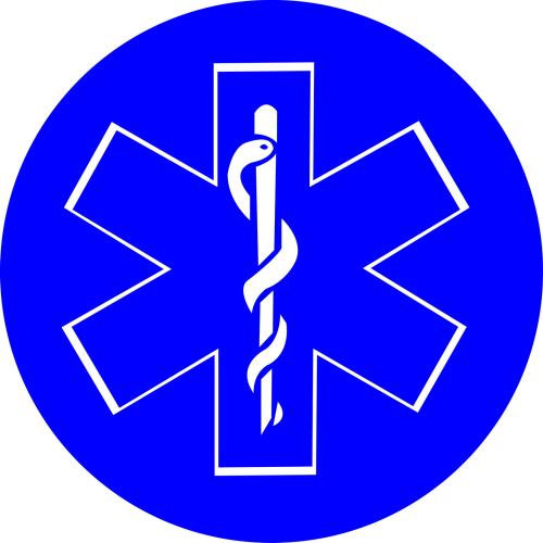 Sticker Ambulance modéle 01 Taille L