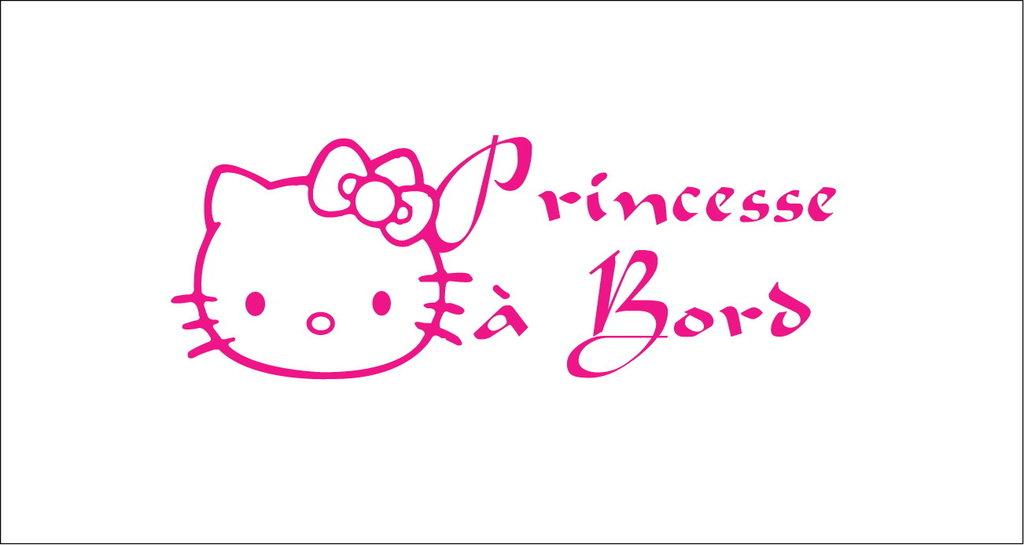 Sticker Bébé à bord 11 - Princesse à bord