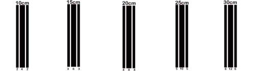 Sticker bande auto Sport 200cm
