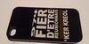 Coque Iphone 4 Noir - 974 Ker Kreol Fier d'etre Réunionnais