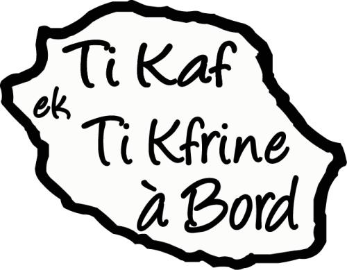Sticker Bébé à bord 16 - Ti kaf ek Ti kfrine à bord