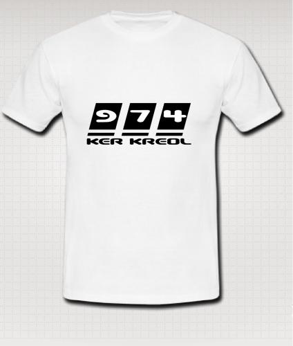 T-shirt Homme écriture 974 Ker Kreol