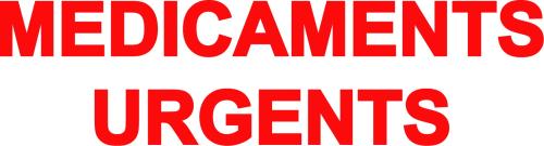 Sticker Voiture Médicaments Urgents 30 x 8cm