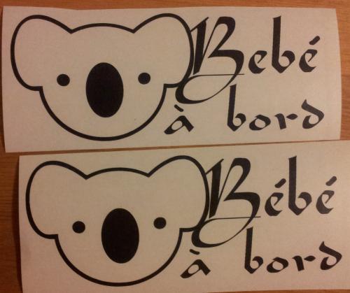 Sticker Bébé à bord 20 - Koala