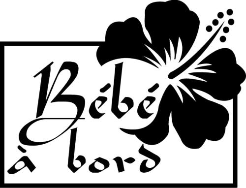 Sticker Bébé à bord 21 - Hibiscus