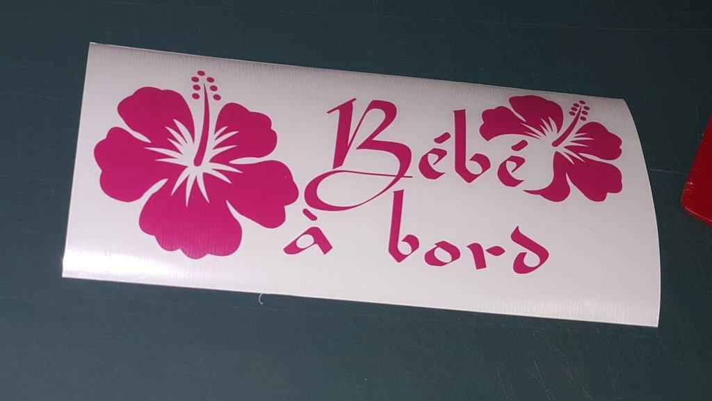 Sticker Bébé à bord 22 - Hibiscus