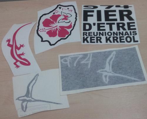 Lot de Sticker Réunion - 974 : 13