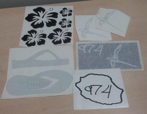 Lot de Sticker Réunion - 974 : 14