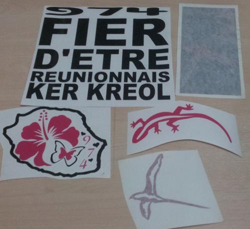Lot de Sticker Réunion - 974 : 16