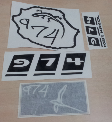 Lot de Sticker Réunion - 974 : 17