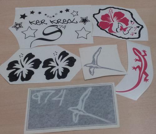 Lot de Sticker Réunion - 974 : 18