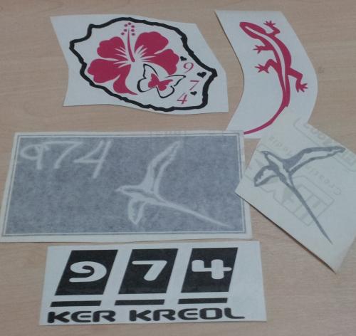 Lot de Sticker Réunion - 974 : 19