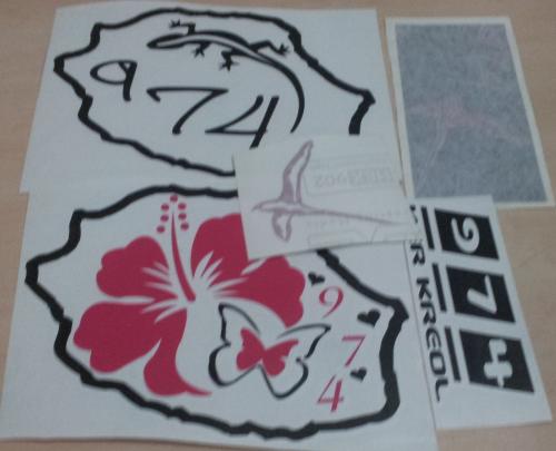 Lot de Sticker Réunion - 974 : 20