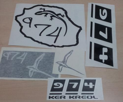 Lot de Sticker Réunion - 974 : 21