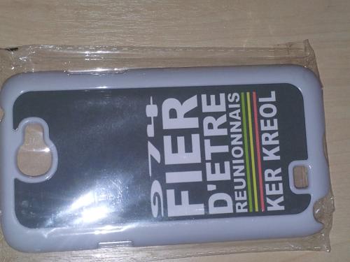 Coque Galaxy Note 2 Blanc - 974 Ker Kreol Fier d'etre Réunionnais