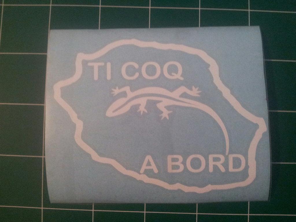 Sticker Bébé à bord 17 - Ti Coq à bord