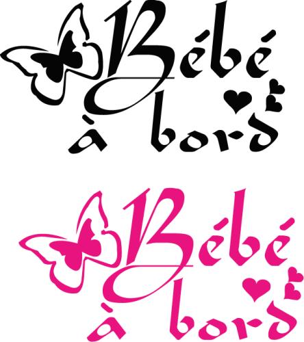 Sticker Bébé à bord 25 - Papillon UNI