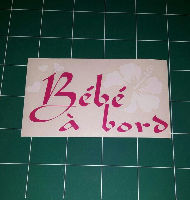 Sticker Bébé à bord 25 - Hibiscus