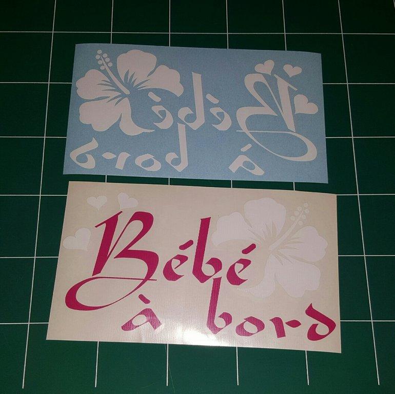 Sticker Bébé à bord 25 UNI - Hibiscus