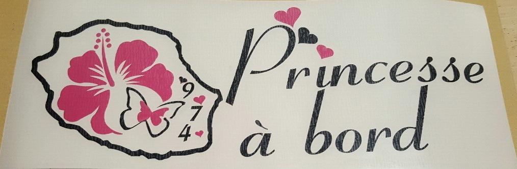 Sticker Bébé à bord 26 - Princesse à Bord