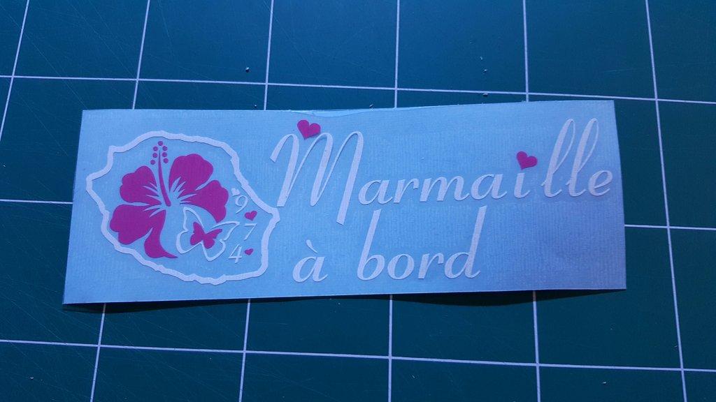 Sticker Bébé à bord 26 - Marmaille à Bord