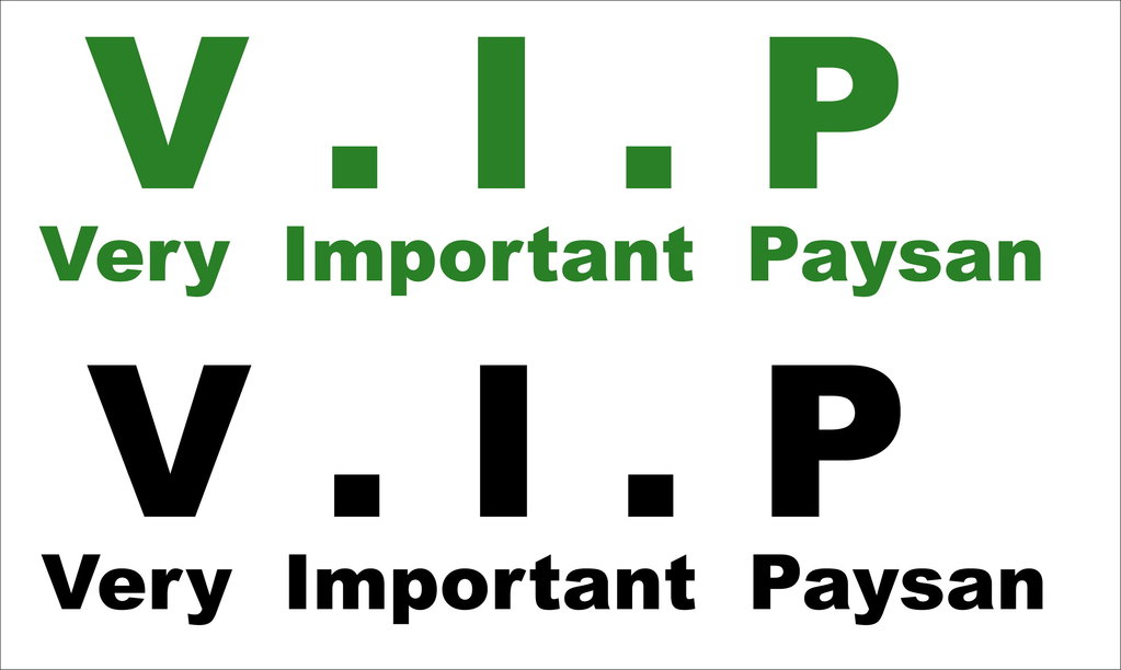 Sticker VIP - Very Important  Paysan - version 01