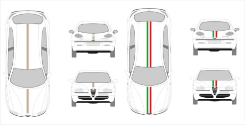 Kit Sticker A monter - bande auto Italie 100cm