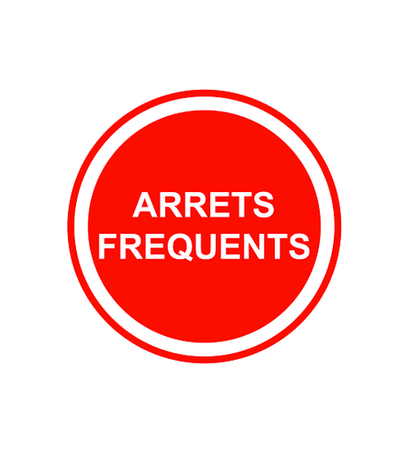 Sticker Voiture Arrets Frequents 23 x 23 cm