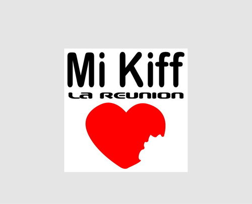 Sticker Mi Kiff la réunion- Dim 05 x 05 cm