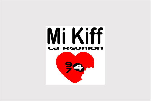 Sticker Mi Kiff la réunion Type 974- Dim 07.5 x 07.5cm