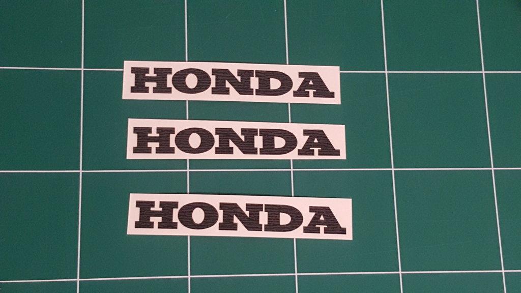 Sticker Logo Honda - Taille 30 x 4.5 cm
