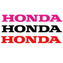 Lot de 2 Stickers Logo Honda - Taille 20 x 3cm