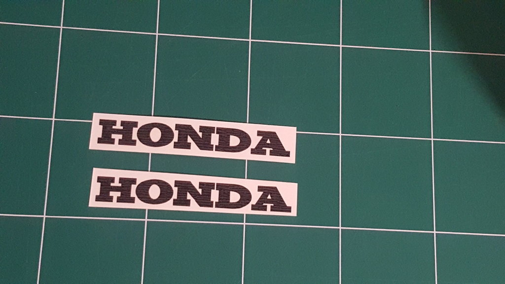 Lot de 2 Stickers Logo Honda - Taille 25 x 3.75cm