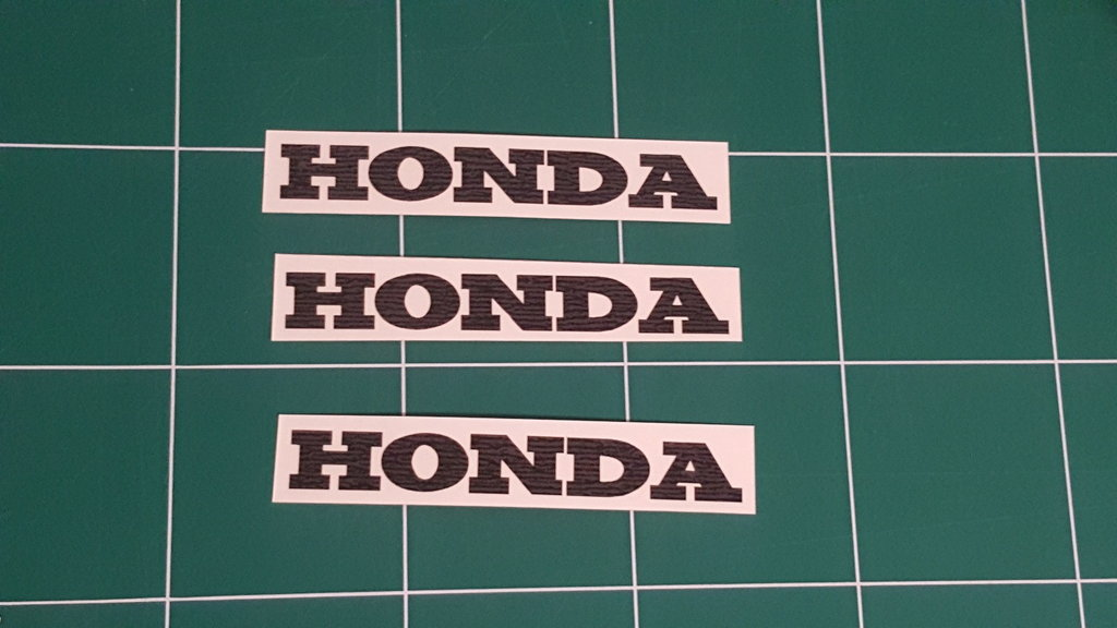 Lot de 2 Stickers Logo Honda - Taille 30 x 4.5cm