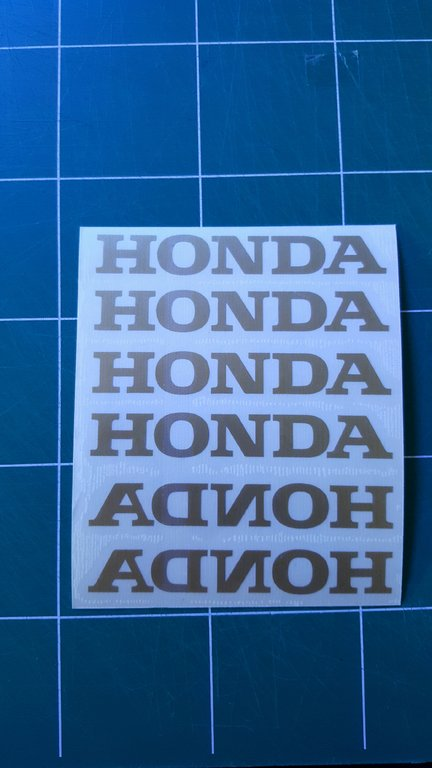 Lot de 2 Stickers Logo Honda - Taille 40 x 6cm