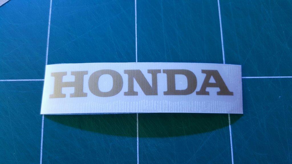 Lot de 2 Stickers Logo Honda - Taille 60 x 9cm