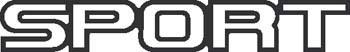 Sticker Sport - 003 - dim : 200 x 30 mm