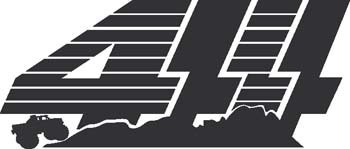 Sticker 4x4 Logo - 027 - dim : 200 x 84 mm